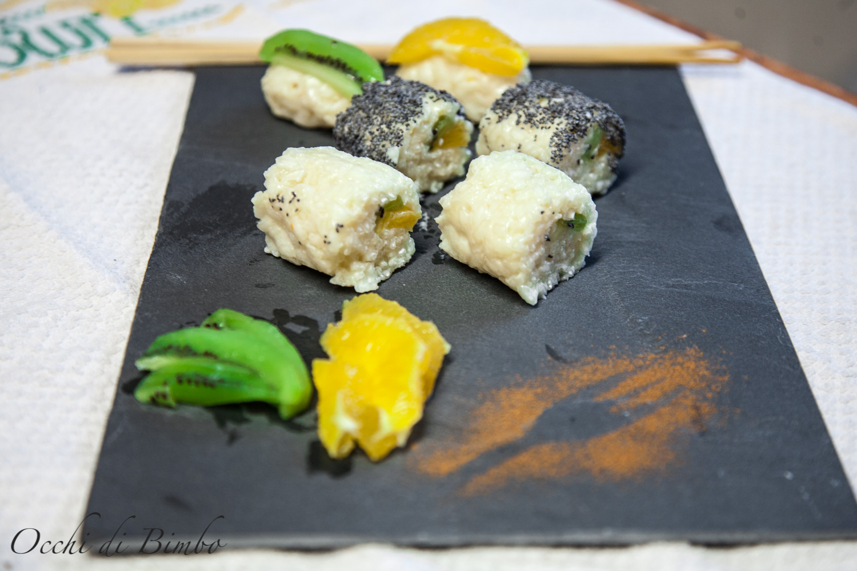 Una sana merenda e sfiziosa: sushi alla frutta per grandi e piccini - 2020