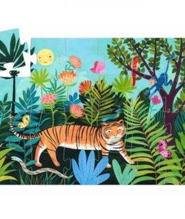 la-balade-du-tigre-puzzle-silhouette-24-pcs-djeco-7201 2