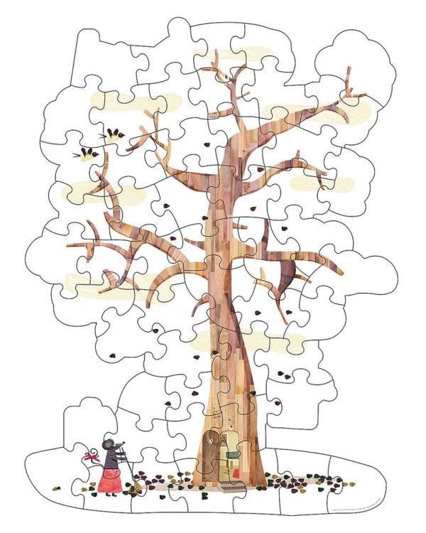 Puzzle albero double face londji occhi di bimbo