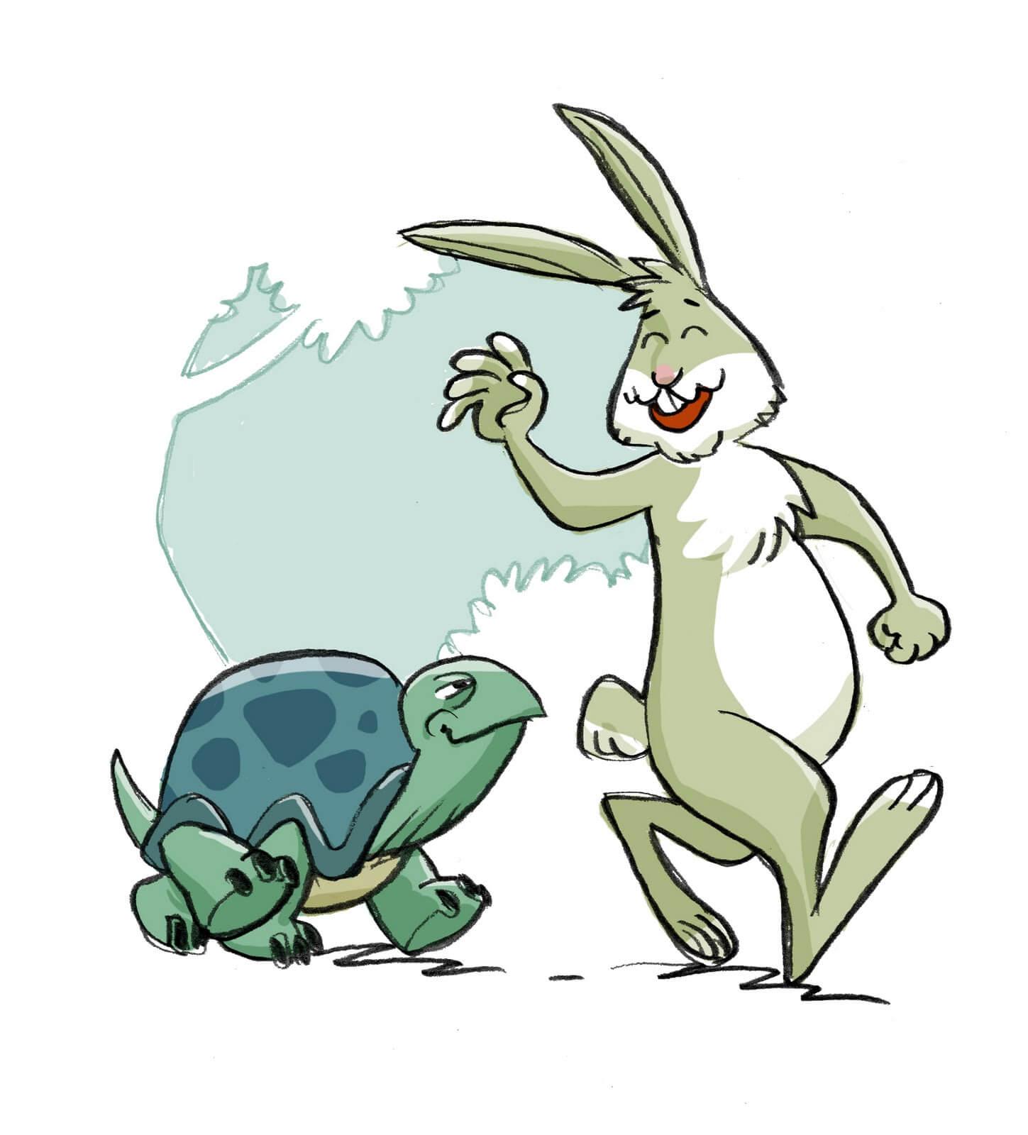 favole per bambini - la lepre e la tartaruga