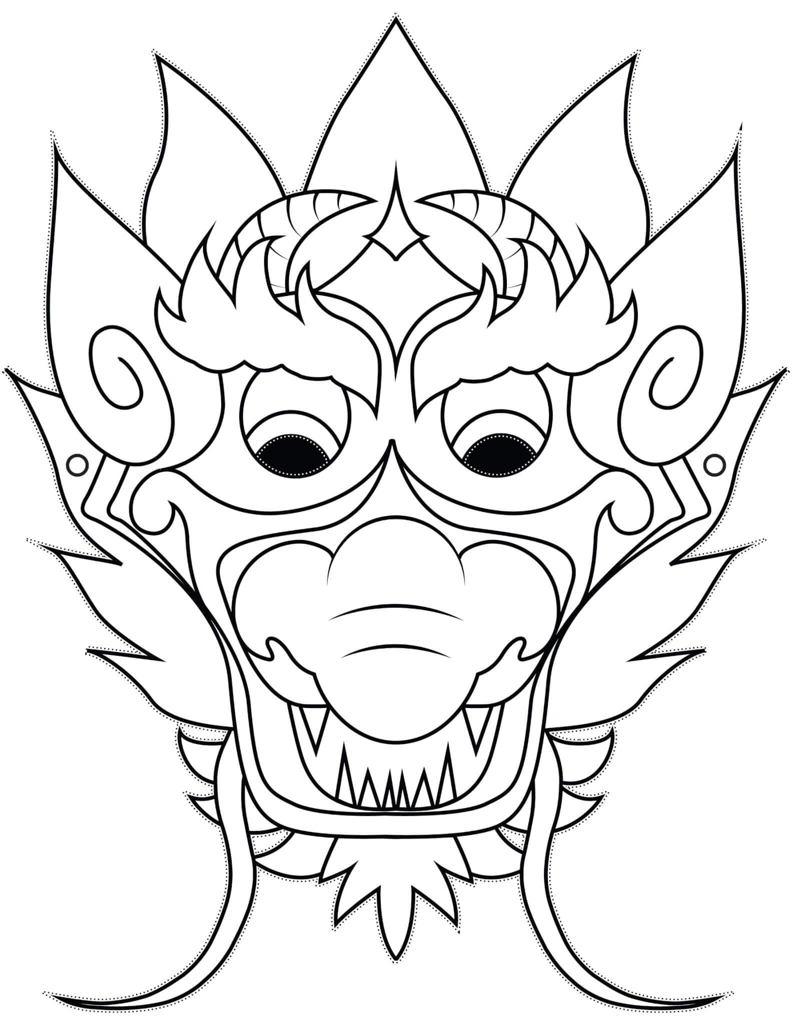 Maschera da colorare per bambini di mostri 🎃 - 2021