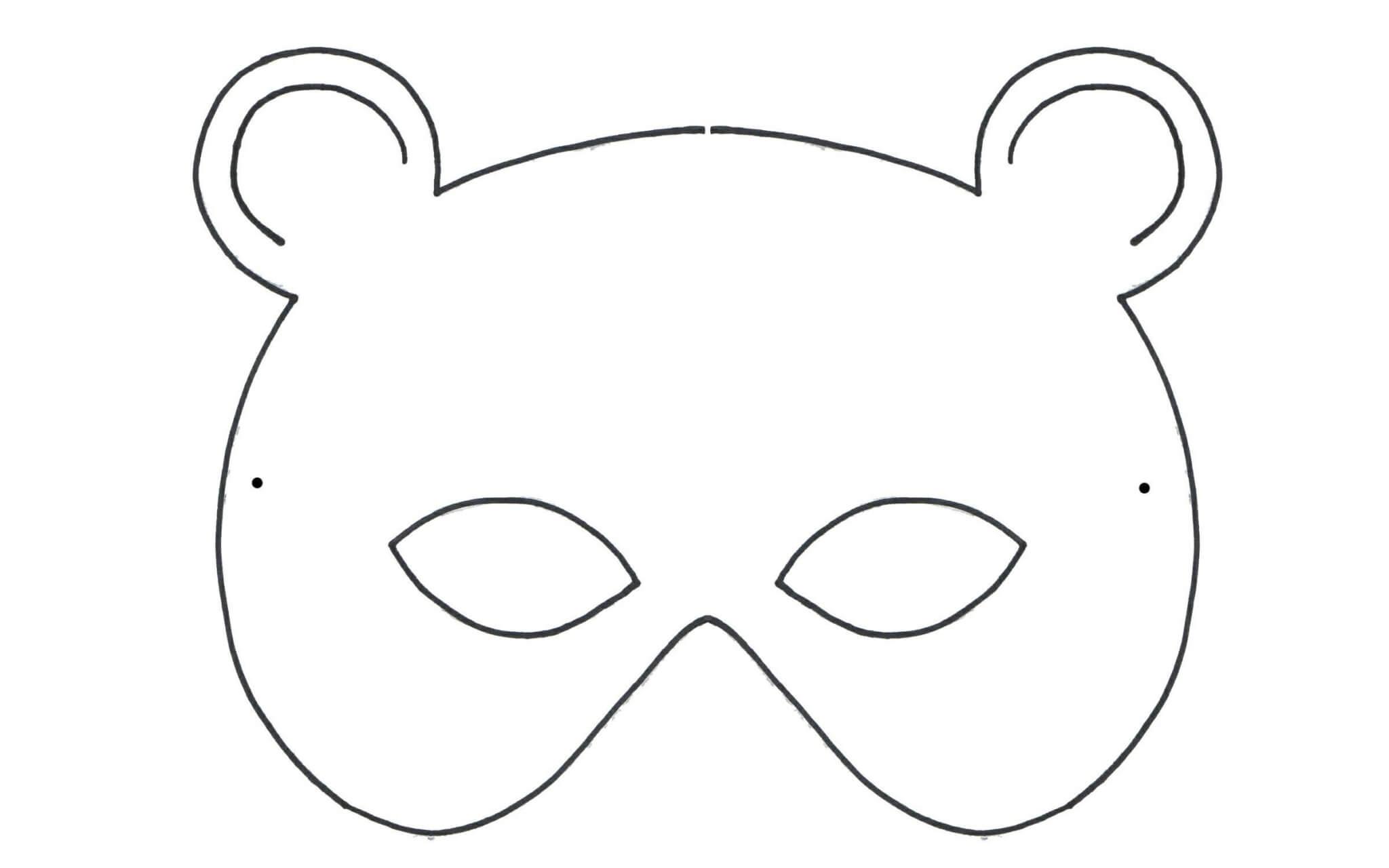 Maschere Da Colorare Di Animali Per Bambini Occhi Di Bimbo